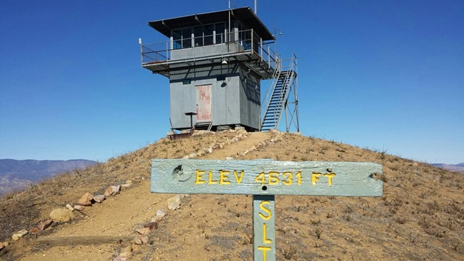 Photo from the Angeles National Forest Fire Lookout Association
