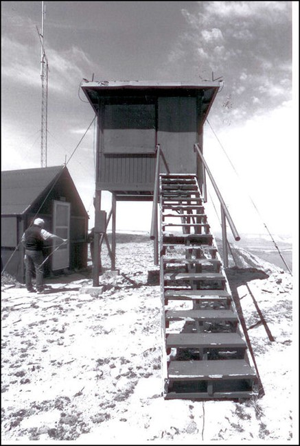 Wooden 8'x8' by 16' tall lookout built 1954-57