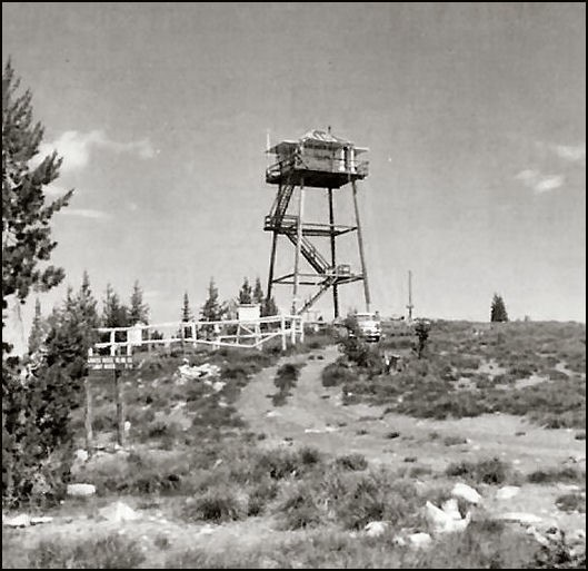 Photo courtesy Robert Evans, lookout observer 1955-56