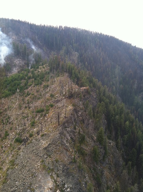 Site of Rocky Point Lookout after 2015 fire (photo courtesy of Richard Holm)