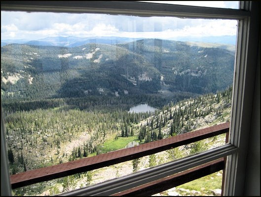 View from inside lookout 2010