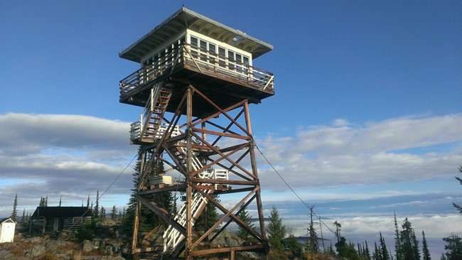 Garver Mountain Lookout in 2013. Photo by Luke Channer.