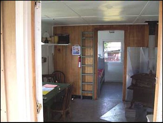 Cabin interior, including sleeping quarters