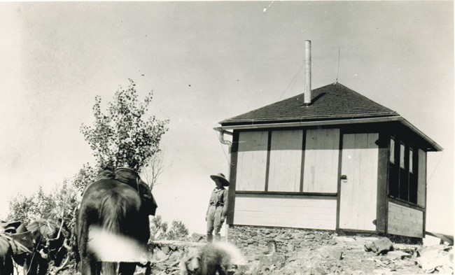 Picuris Lookout in the 1940s (Carson National Forest photo)