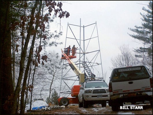Tower re-erected in Wilton, NY Dec. 2010
