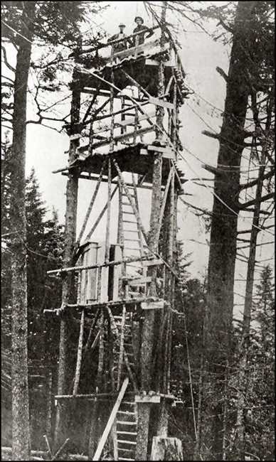 Wood Tower 1909 (NYS-DEC photo-courtesy Bill Starr)
