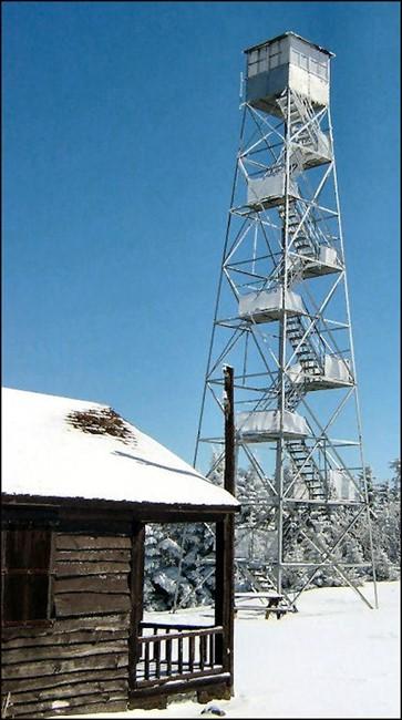Tower & Cabin 2/27/05 (Warren Johnsen photo-courtesy Bill Starr)
