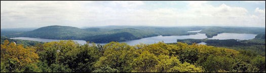 June 2003--Panoramic view of Canada Lake (Bill Starr photo)