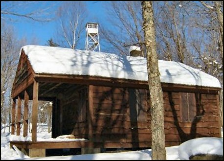 Feb. 2004--Tower and Cabin (Warren Johnsen photo-courtesy Bill Starr)