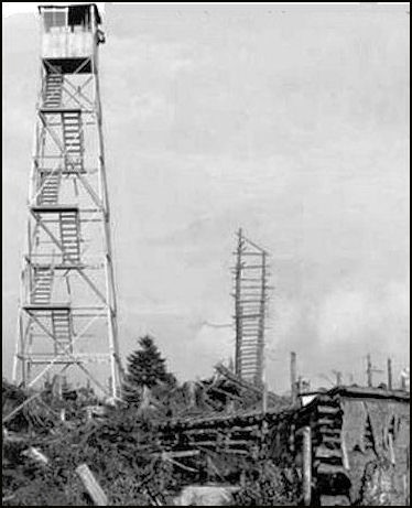 1917-Steel tower being built (NYS-DEC photo)