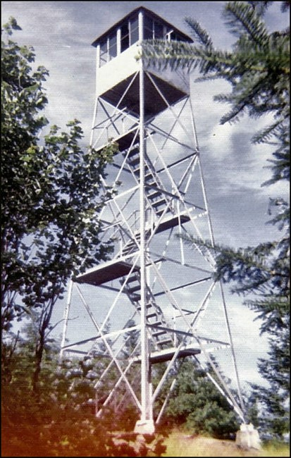 Owls Head Mtn. tower 7-22-73 by Bob Eckler