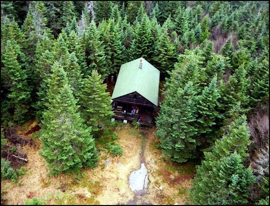 Nov. 2001--Cabin view from tower (Ann Spaziano photo-courtesy Bill Starr)