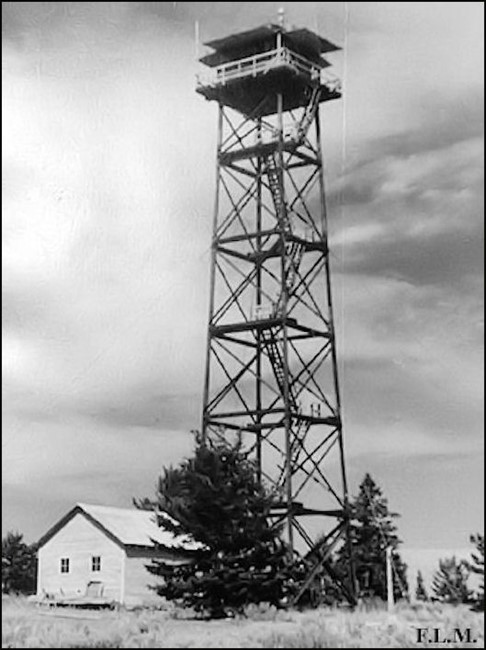 Current tower in 1955