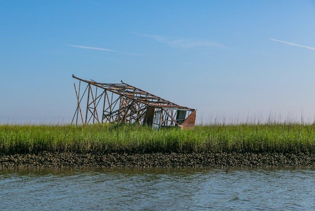 Downed tower in June 2014 (Sarah Dawsey photo)